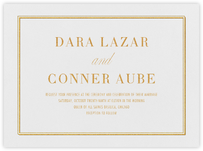 Parapet - Gold - Vera Wang - Wedding Invitations