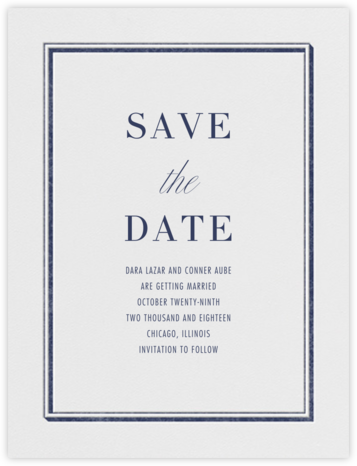 Parapet (Save the Date) - Navy - Vera Wang - Save the dates