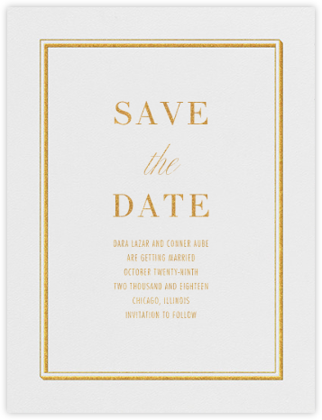 Parapet (Save the Date) - Gold - Vera Wang - Save the dates