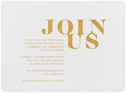 Prelude - Gold - Vera Wang - Modern wedding invitations