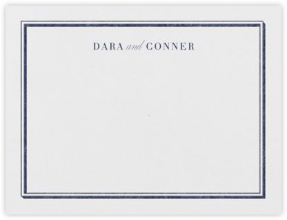 Parapet (Stationery) - Navy - Vera Wang - Personalized Stationery