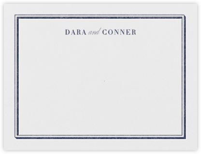 Parapet (Stationery) - Navy - Vera Wang - Vera Wang invitations and stationery