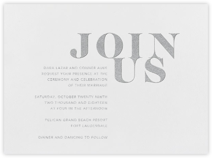 Prelude - Platinum - Vera Wang - Wedding Invitations