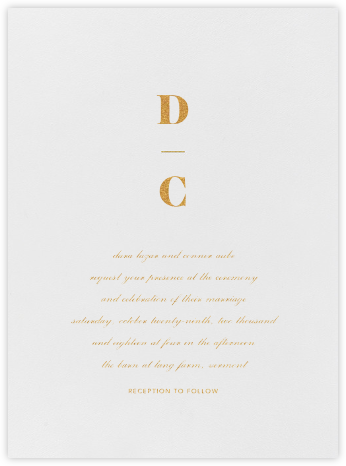 Mast - Gold - Vera Wang - Wedding Invitations