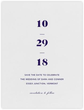Mast (Save the Date) - Amethyst  - Vera Wang - Vera Wang invitations and stationery