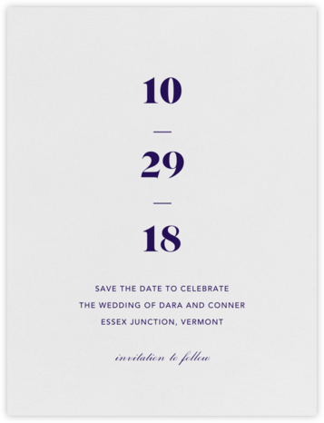 Mast (Save the Date) - Amethyst  - Vera Wang - Save the dates