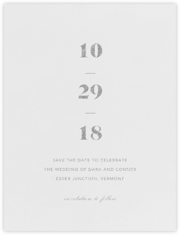 Mast (Save the Date) - Platinum - Vera Wang - Save the dates