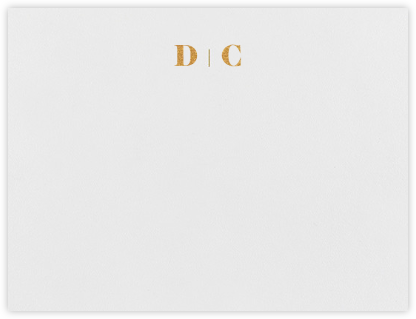 Mast (Stationery) - Gold - Vera Wang - Personalized Stationery
