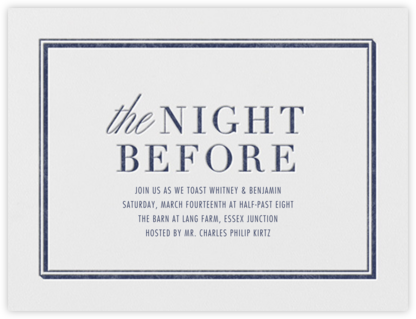 Eve - Navy - Vera Wang - Wedding Weekend Invitations