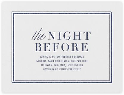 Eve - Navy - Vera Wang - Vera Wang Invitations
