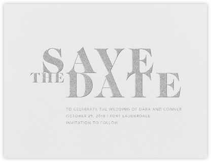 Prelude (Save the Date) - Platinum - Vera Wang - Save the dates