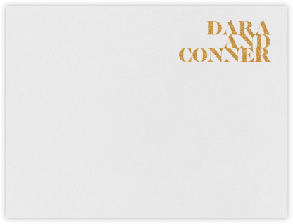 Prelude (Stationery) - Gold - Vera Wang - Personalized Stationery