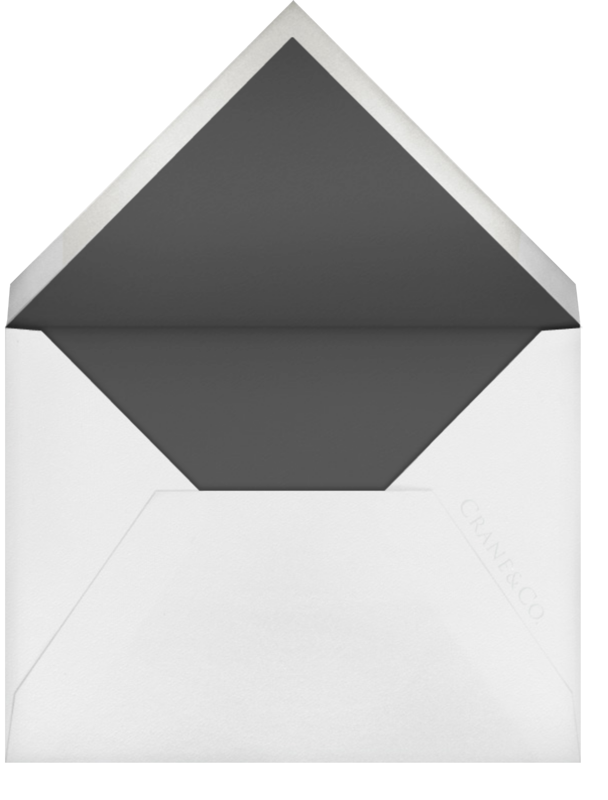 Prelude (Stationery) - Platinum - Vera Wang - Personalized stationery - envelope back