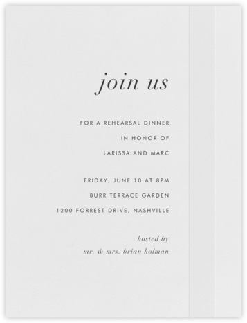 Starboard - Charcoal - Vera Wang - Wedding Weekend Invitations