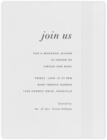 Starboard - Charcoal - Vera Wang - Vera Wang invitations and stationery