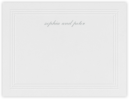 Plinth (Stationery) - Pewter Gray - Vera Wang - Vera Wang Stationery