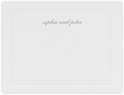 Plinth (Stationery) - Pewter Gray - Vera Wang -