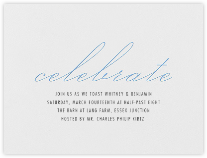 Revel - Newport Blue - Vera Wang - Engagement party invitations