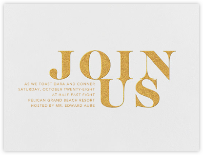 Overture - Gold - Vera Wang - Engagement party invitations