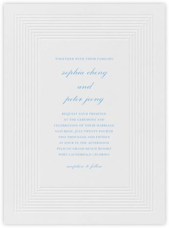Plinth - Newport Blue - Vera Wang - Wedding Invitations