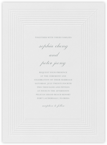 Plinth - Pewter Gray - Vera Wang - Wedding Invitations