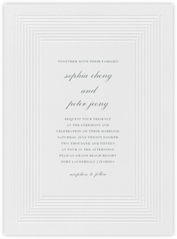 Plinth - Pewter Gray - Vera Wang - Vera Wang Invitations