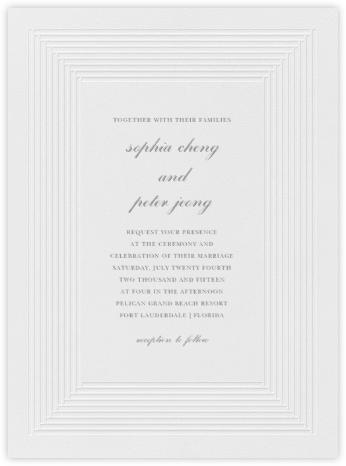 Plinth - Pewter Gray - Vera Wang - Vera Wang invitations and stationery