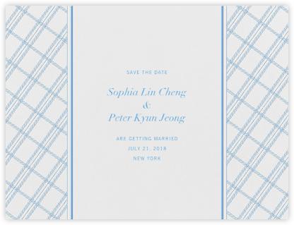 White Tartan (Save the Date) - Newport Blue - Vera Wang -