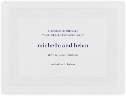 Firth (Save the Date) - Amethyst - Vera Wang -