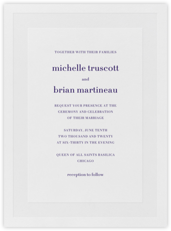 Firth - Amethyst - Vera Wang - Wedding Invitations