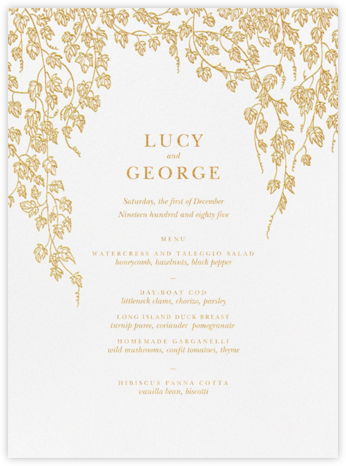 Gwendolyn I (Menu) - Gold - Paperless Post - Wedding menus and programs - available in paper