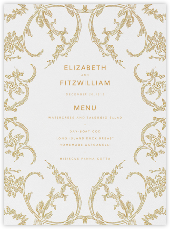 Silk Brocade I (Menu) - Gold | null
