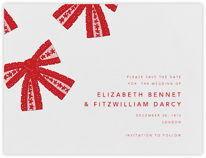 Tie the Knot (Save the Date) - Red - Oscar de la Renta -