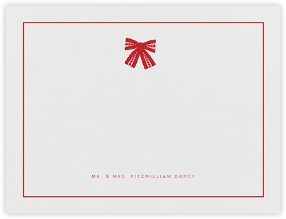 Tie the Knot (Stationery) - Red - Oscar de la Renta - Personalized Stationery