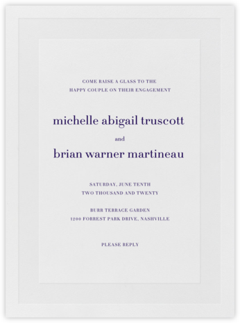 Firth - Amethyst - Vera Wang - Engagement party invitations