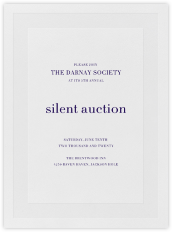 Firth - Amethyst - Vera Wang - Fundraiser Invitations