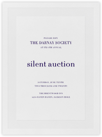 Firth - Amethyst - Vera Wang - Charity and fundraiser invitations