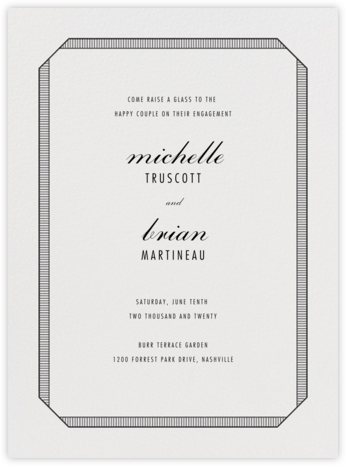 Grosgrain - Black - Vera Wang - Engagement party invitations