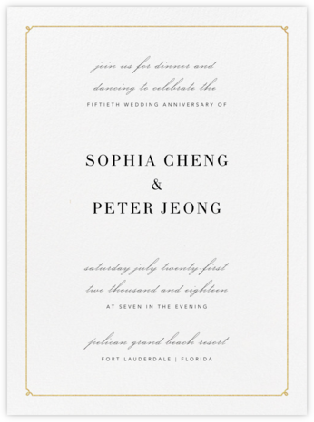 Ledger - Gold - Vera Wang - Celebration invitations