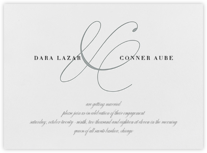 Stirling - Pewter Gray - Vera Wang - Engagement party invitations