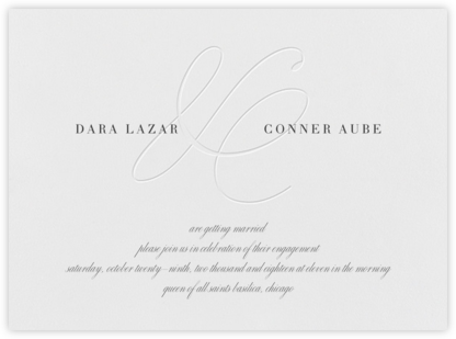 Stirling - Blind - Vera Wang - Engagement party invitations