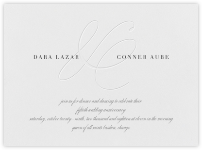 Stirling - Blind - Vera Wang - Celebration invitations
