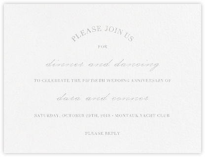 Lancet - Platinum - Vera Wang - Celebration invitations