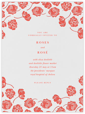Audrey I - Geranium - Paperless Post - Wedding Invitations