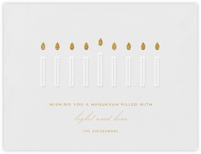 Hanukiah - Paperless Post - Hanukkah Cards