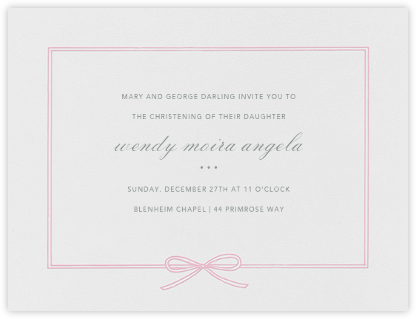 Amande - Peony - Paperless Post - Baptism invitations