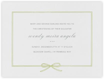 Amande - Celery - Paperless Post - Baptism invitations