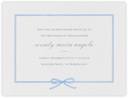 Amande - Newport Blue - Paperless Post - Christening Invitations