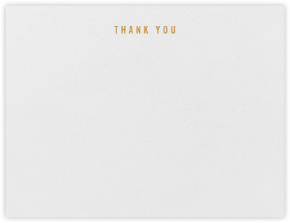 Thank You (Stationery) | horizontal