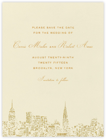 City Lights I (Save the Date) - kate spade new york - Kate Spade invitations, save the dates, and cards